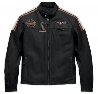 Motocyklová bunda Men's H-D® Genuine Motorclothes Leather Jacket Gorgan CE 97003-18EM