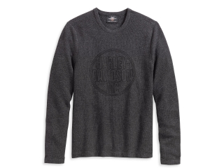 Sveter Men's H-D® Genuine Motorclothes Sweatshirt Circle Logo grey 96130-20VM