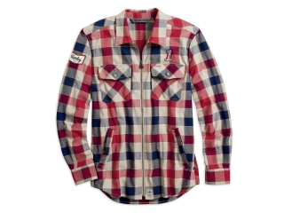 Pánska bunda Men's H-D® Garage Shirtjacket #1 Plaid Zip 99194-19VM