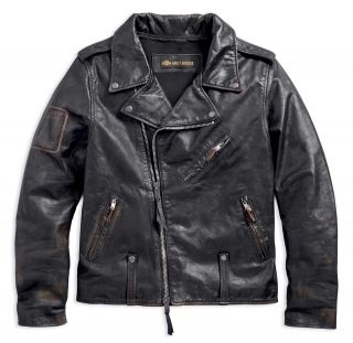Pánska bunda Men's H-D® 1903 Master Distressed Slim Fit Leather Biker Jacket 98003-18VM