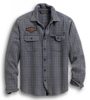 Košeľa Men's H-D® 1903 H-D Plaid Slim Long Sleeve Woven Shirt - Gray 99008-20VM