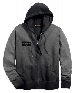 Mikina Men's H-D® 1903 Felt Applique Slim Fit Zippered Hoodie 99027-18VM