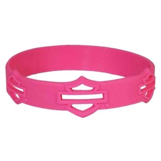 Náromok Harley-Davidson® Cut-Out Blank Bar & Shield Silicone Wristband, Pink WB114407