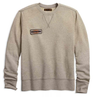 Mikina Men's H-D® 1903 Canvas Patch Slim Fit Pullover Sweatshirt, Tan 96272-18VM