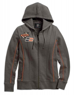 Mikina Women´s H-D® Genuine Motorclothes Screamin' Eagle Zippered Hoodie, Charcoal 96293-18VW