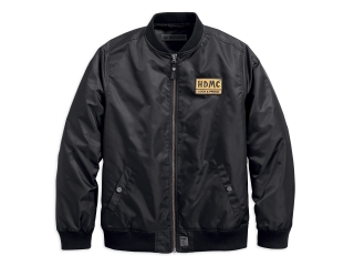 Pánska bunda Men's H-D® Garage HDMC Patch Slim Fit Bomber Jacket 97457-18VM