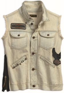 Vesta Women´s H-D® Overcast Side Zipper Denim Vest 97469-18VW