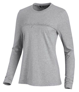 Tričko Women´s H-D®Embossed Graphic Long Sleeve Tee - Gray 99050-20VW