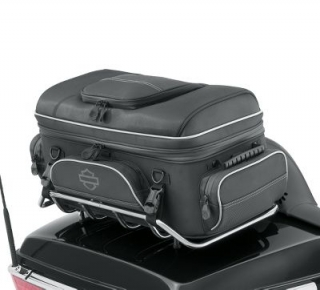Harley-Davidson® Onyx Premium Luggage Tour-Pak Rack Bag - Black 93300123