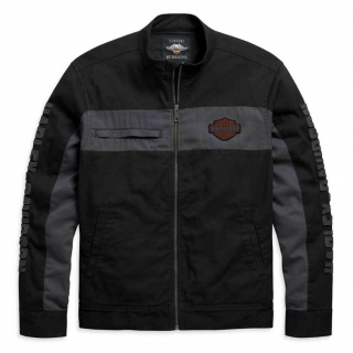 Pánska bunda Harley-Davidson® Men's Copperblock Canvas Casual Jacket - Black 98406-20VM