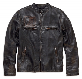 Pánska bunda Harley-Davidson® Men's Speed Distressed Slim Fit Leather Jacket 98004-18VM