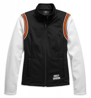 Dámska bunda Harley-Davidson® Women's Embellished Logo Colorblock Fleece Jacket 98409-20VW