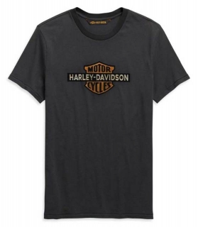 Tričko Harley-Davidson® Men's Cracked Print Logo Short Sleeve Tee - Gray 99101-20VM