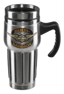 Harley-Davidson® Core Winged Bar & Shield Travel Mug - Stainless Steel HDX-98610