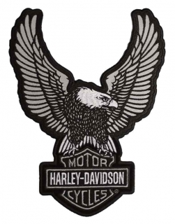Harley-Davidson® Embroider Reflective Up-Wing Eagle Emblem, LG 6 x 8 in EM328754