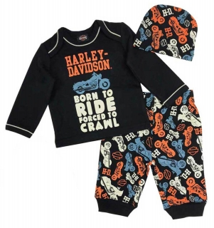 Baby Boys' Motorcycle Newborn 3-piece Set w/ Gift Bag