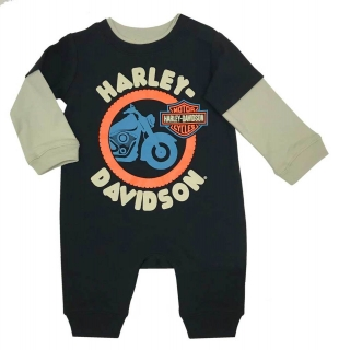 Baby Boys' Colorblocked Interlock Long Sleeve Coverall