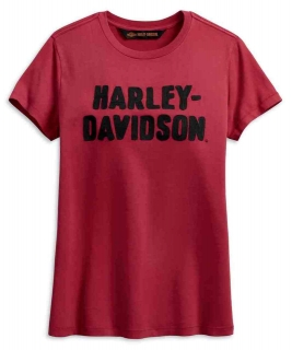 Tričko Women´s H-D® 1903 Harley-Davidson® Women's Chain Stitched Short Sleeve Tee, Red 99002-19VW