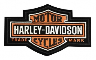Harley-Davidson® Long bar & Shield Medium Patch, 7-1/4'' W x 4-3/8''  EMB312383