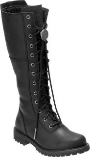 "Harley-Davidson® Women's Walfield 12"" Black Riding Boots D84531"