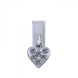 Harley-Davidson® Womens Silver B&S Heart Rally Charm by Mod Jewelry®