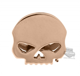 Harley-Davidson® Womens Stainless Steel Rose Gold Tone Willie G Skull Rally Charm by Mod Jewelry®