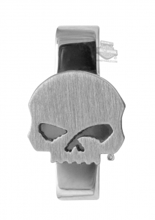 Harley-Davidson® Womens Stainless Steel Silver Tone Small Willie G Skull Rally Charm by Mod Jewelry®