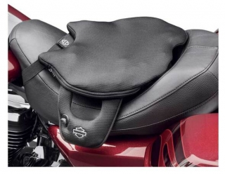 Harley-Davidson® Road Zeppelin Seat Rider Pad, Pad Width 14 inch, Black 52000327