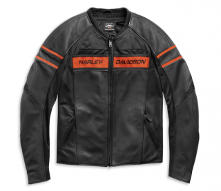 Motocyklová bunda Men's Harley-Davidson Men's H-D Brawler Leather Jacket98004-21EH
