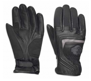 Rukavice Men's H-D® Harley-Davidson Leather & Mesh Gloves Bar & Shield EC 98362-17EM