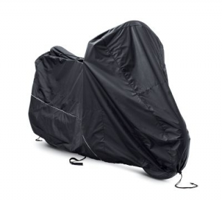 Indoor/Outdoor Medium Black Motorcycle Cover