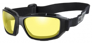 Harley-Davidson® Men's Bend Yellow Lens Goggles, Collapsible Black Frames