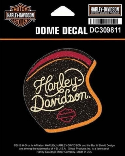 Harley-Davidson® Womens Candy Custom Glitter X-Small Dome Decal