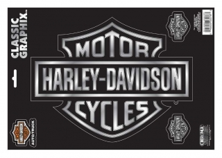 Harley-Davidson® Embossed Bar & Shield Logo Chrome Decals - 9 x 13 in.