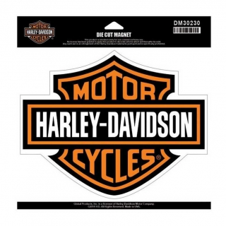 Harley-Davidson® Bar & Shield Magnet Orange