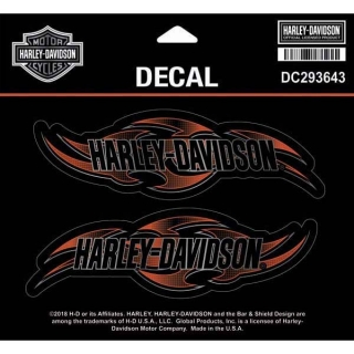 "Harley-Davidson® Decal, Tribal Edge, MD, Orange & Black, 3 per sheet, 5 1/2"" W x 3 1/2""H"