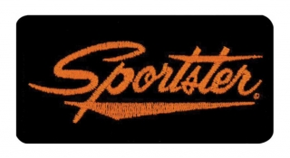 Harley-Davidson® Embroidered Sportster Emblem Patch, Small 4 x 2 in.