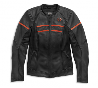 Motocyklová bunda Harley-Davidson®Women's H-D™ Brawler Leather Jacket 98007-21EW